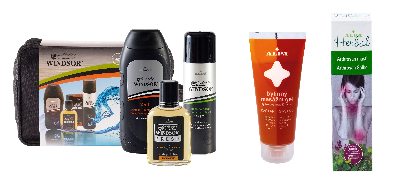 Výhry: Kazeta Winsor, bylinný masážní gel Alpa, mast ALPA herbal Arthrosan, zdroj Alpa
