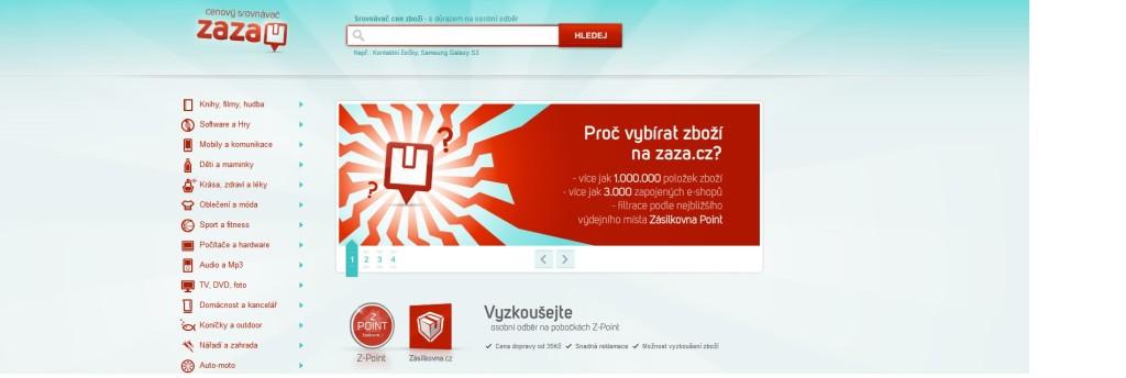 Srovnávač cen ZAZA, zdroj: www.zaza.cz