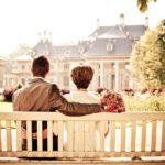 vztah, senioři, lavička, láska